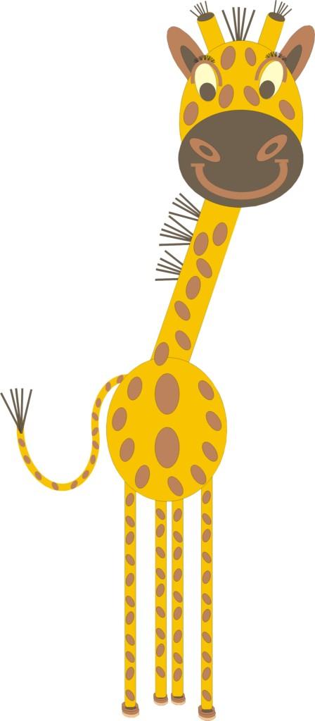 Giraffe ganz Front freigestellt