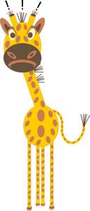 Giraffe ganz verärgert