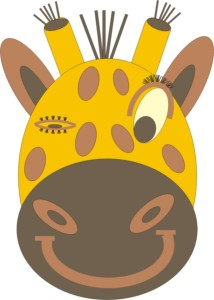 Giraffe zwinkert